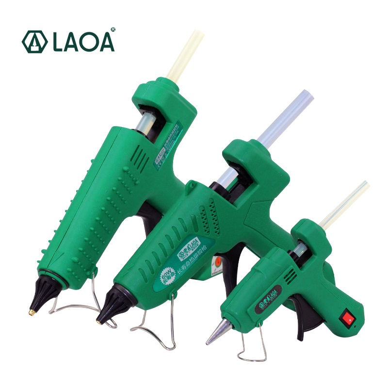 Laoa 25w/60w/100w/150w Hot Melt Glue Gun Professional Pistolet A Colle Mini For Metal/wood Working Stick Paper Hairpin Pu Flower Spare No Cost At Any Cost