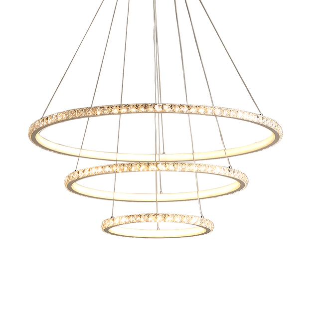 Crystal Circle Pendant Lights Chandelier
