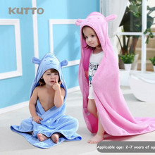 KUTTO Four colors Cute cartoon cotton children's cloak bath towel baby holding quilt Cloak bath towel цены