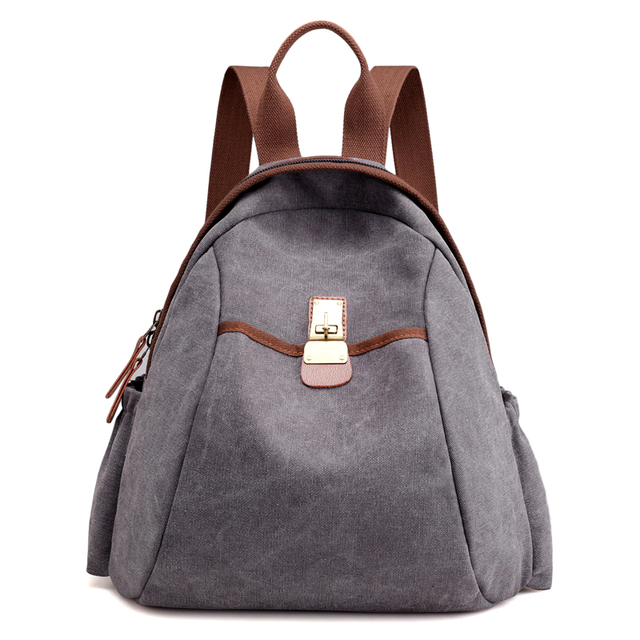 cdc4859dfc2 2017 New Arrival Top Quality Women Canvas Backpack Casual Vintage College  Bags Female Retro Stylish Daily