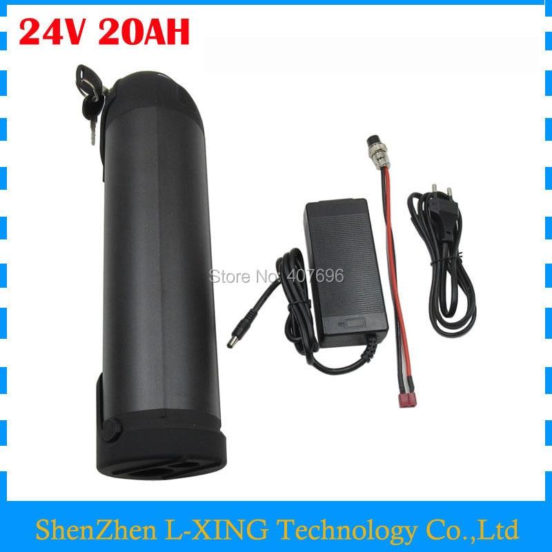 24 v 20ah li-ion Batterie 350 w 24 v 20AH Ebike batterie pack 24 v bouteille d'eau batterie 15A BMS avec 3A Chargeur Livraison frais de douane