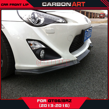 For toyota gt86 subaru brz carbon fiber front lip jd style design skirts car styling decorations scion frs add on ft86 sports