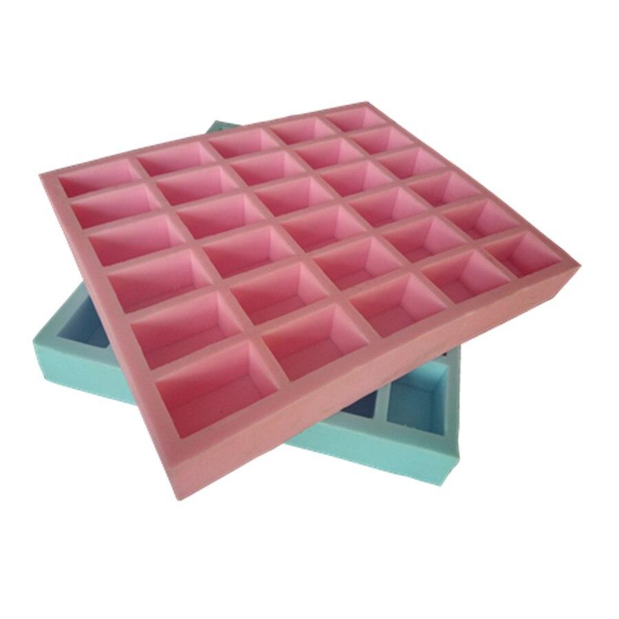 1pcs 24 even small square silicone cake mold Chocolate mold Aroma plaster mold