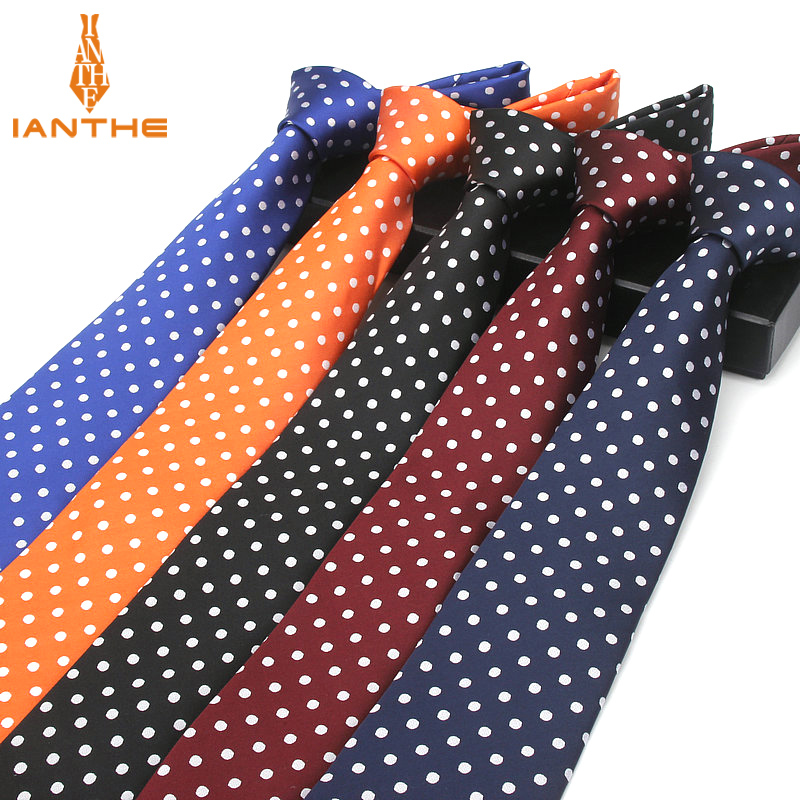 Fashion Blue Dot Tie 8cm Necktie For Men Red Wedding Neck Ties Men's Classic Ties For Business Party SuitS Accessories Cravate