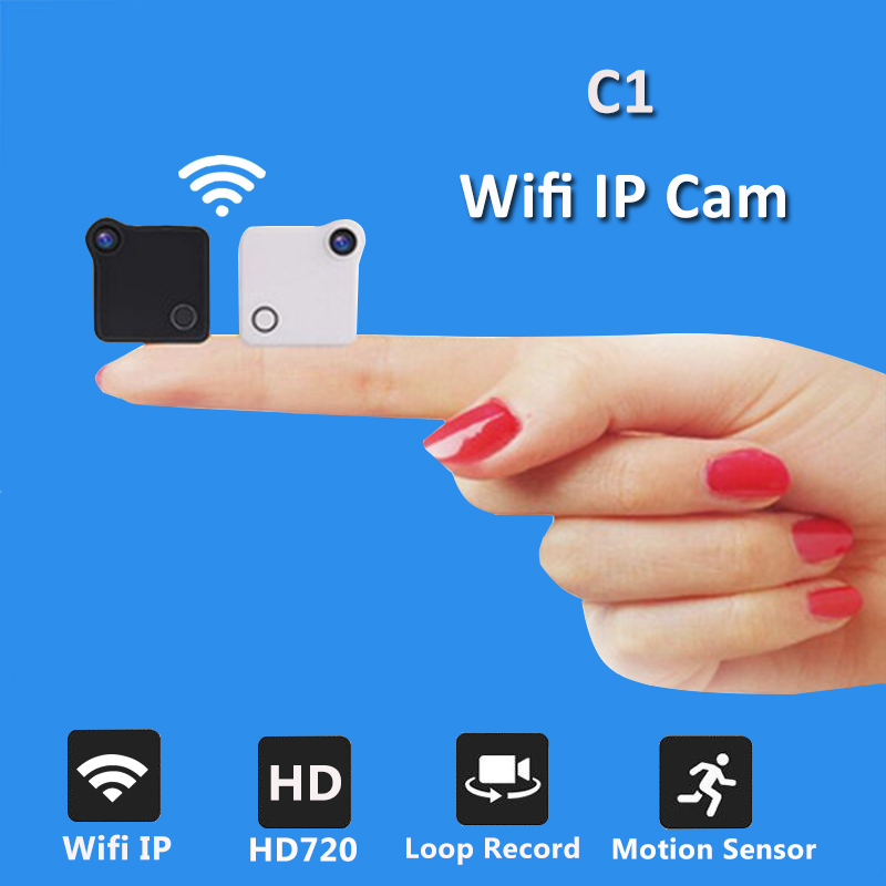 C1 Mini Wifi Camera IP Cam Wearable 720P HD H.264 Body Camera Wireless Motion Detection Mini DV Camera Magnetic Bike Camera