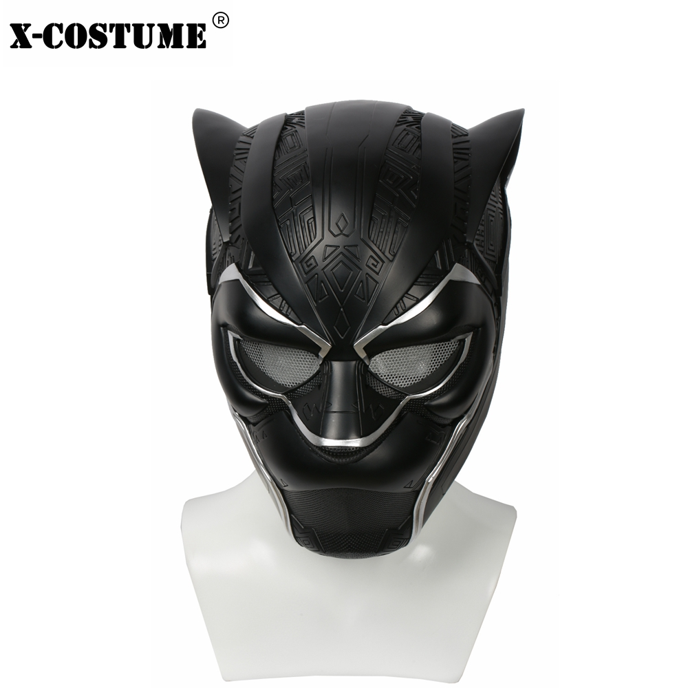 2018 Hot Sale Black Panther Black Full Head Helmet Resin Mask Superhero Cosplay Costume Props For Halloween Christmas Party Gift