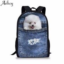 Aelicy las mujeres mochila 3D impresión Animal gato perro mochila de la Escuela de las niñas bolsas 2019 nueva mochila femenina dropshipping. exclusivo.