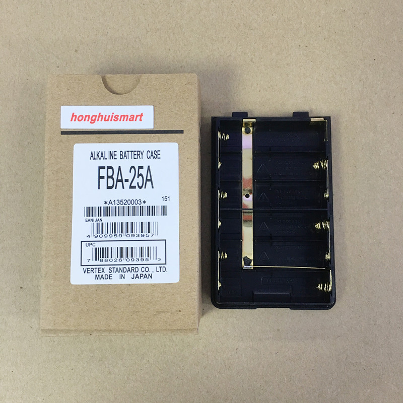 AA Battery Case FBA-25A Mini Dual Band Male Antenna for YAESU-VERTEX FT-60R