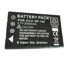 3,7 В 2000 мАч NP-120 FNP120 NP120 аккумуляторная Камера Батарея для FUJIFILM Fuji F10 F11 603 M60 D-LI7 батареи