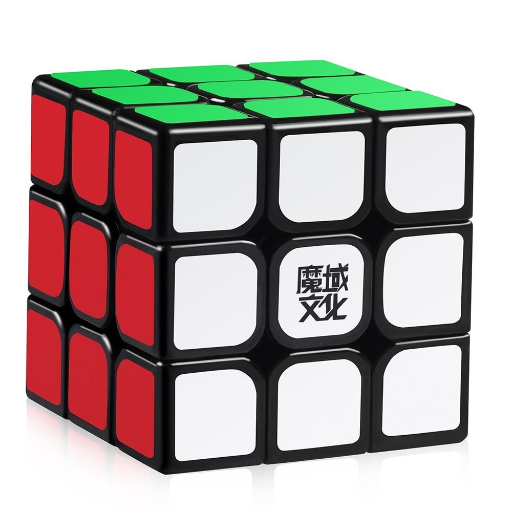 D-FantiX Moyu Aolong V2 3x3 Speed Cube 3x3x3 Magic Cube Puzzle Toy Black Enhanced Edition