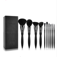 MSQ Brand Pro 10pcs Makeup Brushes Set Beauty Powder Eyeshadow Foundation Copper Ferrule With Magnetic Cylider