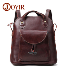 JOYIR Genuine Leather Women Casual design Shoulder Bag Retro Ladies Backpack Female Fashion Messenger Travel