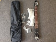 Ministar Caster electric guitar ,S-S-H pickups ,mini , travel guitar,kroean parts including bigbag and