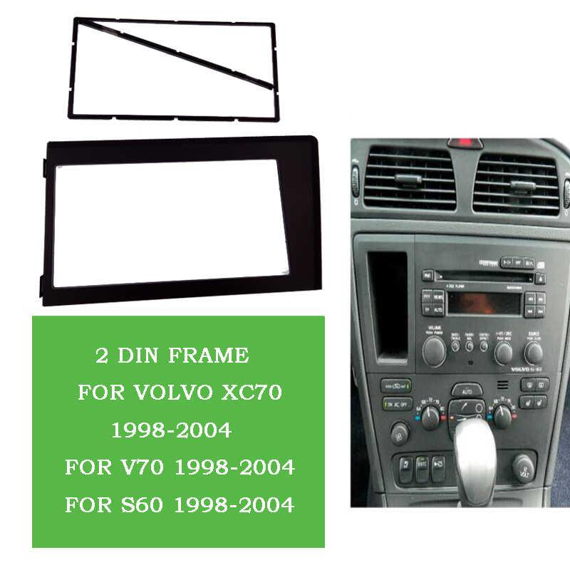 2Din Radio samochodowe CD DVD GPS panel stereo uchwyt do deski rozdzielczej zestaw do przycinania interfejs panel ramka konsola pasuje do Volvo XC70 V70 S60 1998-2004