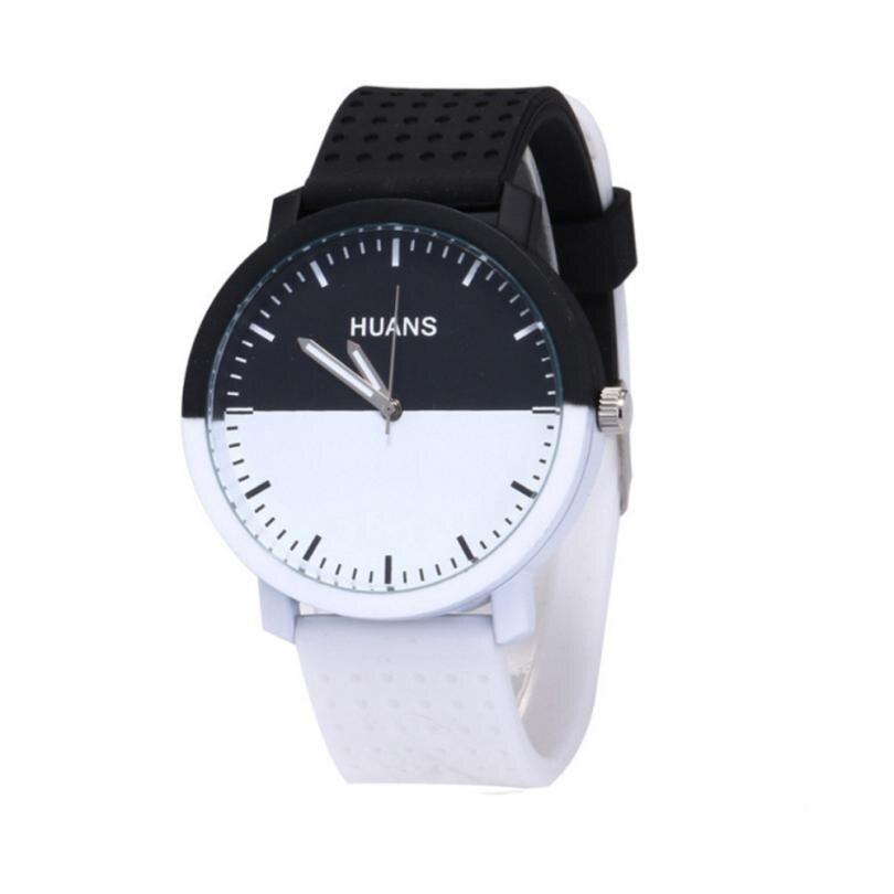 High Quality Women Quartz Wrist Watches Fashion Black White Silicone Creative Ladies Watch Clock Gift Montre Femme Relogio New