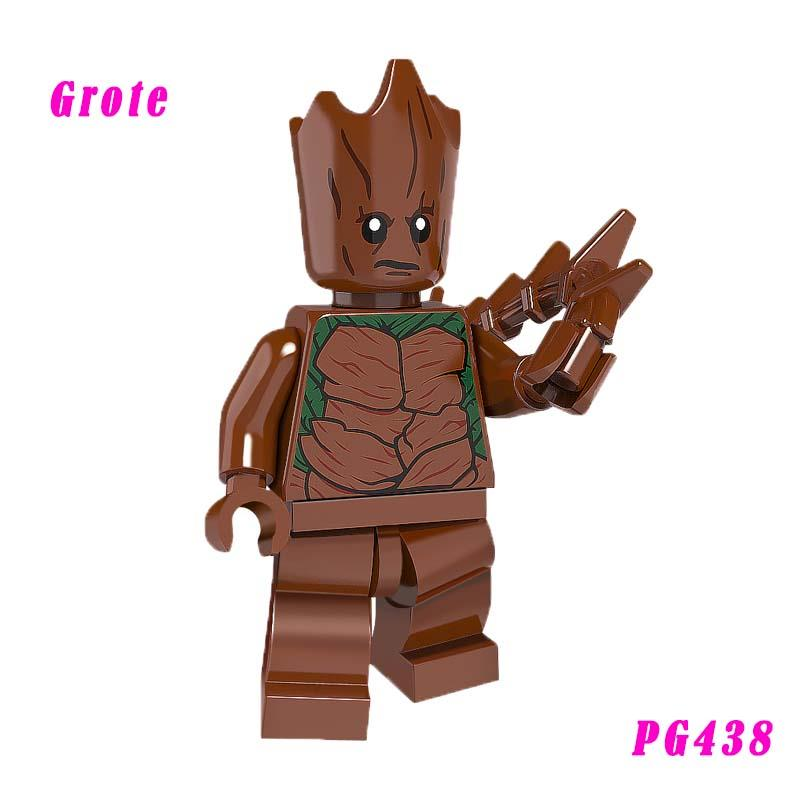 Teenager Grote Mini Doll Super Heroes 76020 Knowhere Escape Mission Rocket Raccoon Building Block Toys For Children Pg438