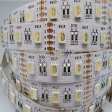 DC24V/12V 4 Colors in 1 PCB SMD 5050 RGBW Strip Light LED RGB10MM/12MM+ White / Warm White Bare Board/Epoxy/Casing/Glue/TUBE 5M