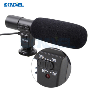 Image 2 - Mic 01 Professional  Camera External Stereo Microphone For Nikon D7500 D7200 D5600 D5500 D5300 D5200 D3300 D810 D750 D500 D5 D4
