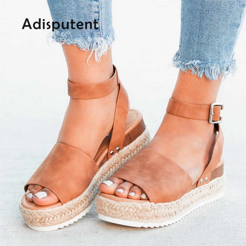 3cd2c5fc3bbec Sandals Women Wedges Shoes Pumps High Heels Sandals Summer 2019 Flip Flop  Chaussures Femme Platform Sandals