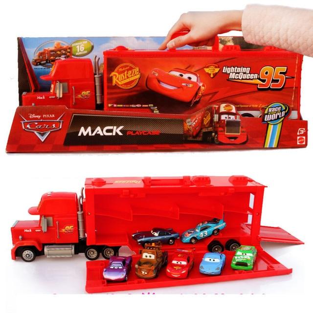 Tamanho grande terno porttil no 95 tio mack mcqueen pixar carros 95 tio mack mcqueen pixar carros de brinquedo de metal fandeluxe Choice Image