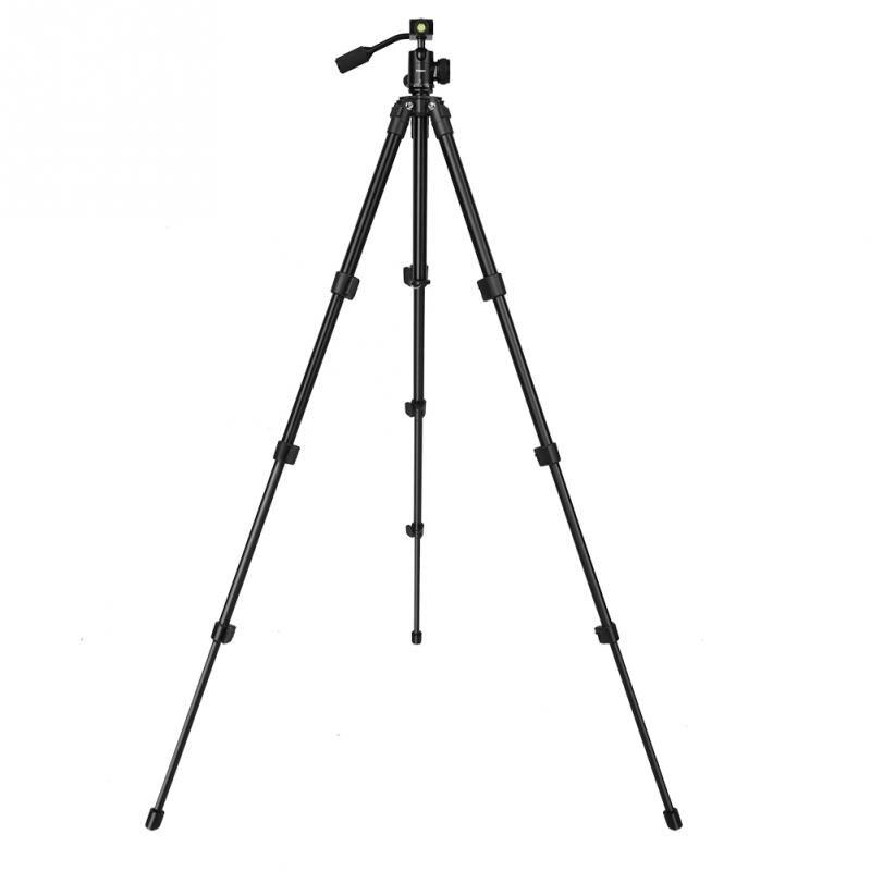 SHOOT Alluminum Alloy Telescopic 4 Section Video Tripod