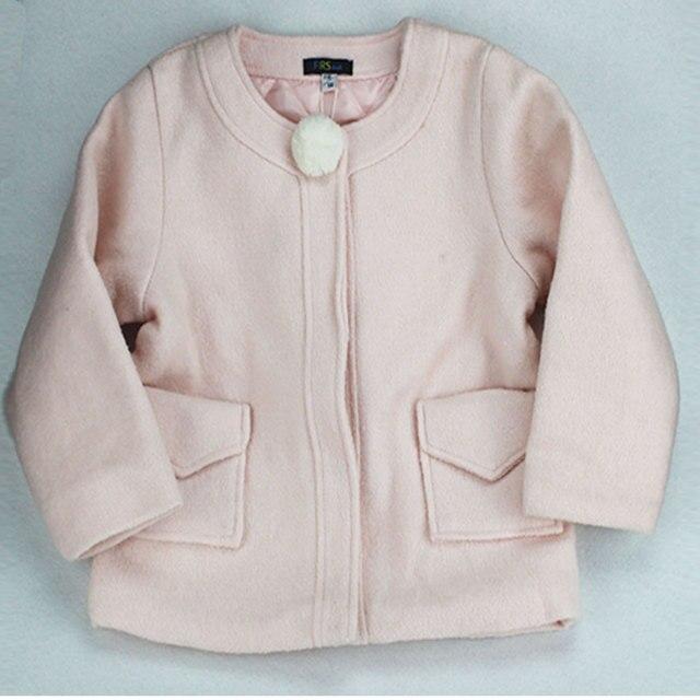 2017 Осень зима новое прибытие детей пальто Девушки шерстяные куртки пальто детская одежда куртка F154HOO3