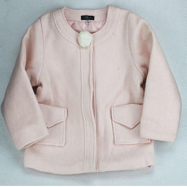 2017 Autumn winter new arrival kids coat Girls woolen coat jacket children clothes jacket F154HOO3