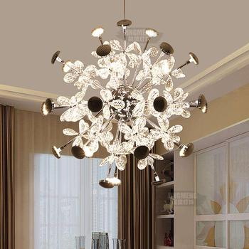 Modern Crystal Ball Pendant Lights Dining Room Lamp Circular Bar  Store Bedroom Lamp Creative Personality 220V Ball Light