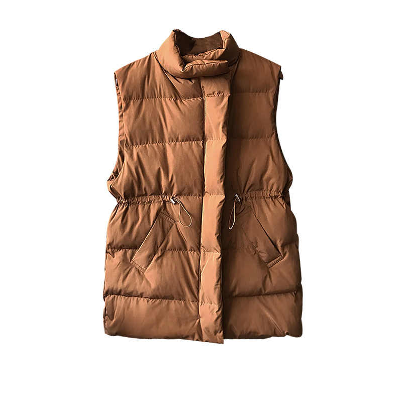 Winter Weste Chalecos Para Mujer Winter Jacke Frauen Lange Weste Neue Koreanische Stand-up Kragen Baumwolle Frauen Weste Gilet femme