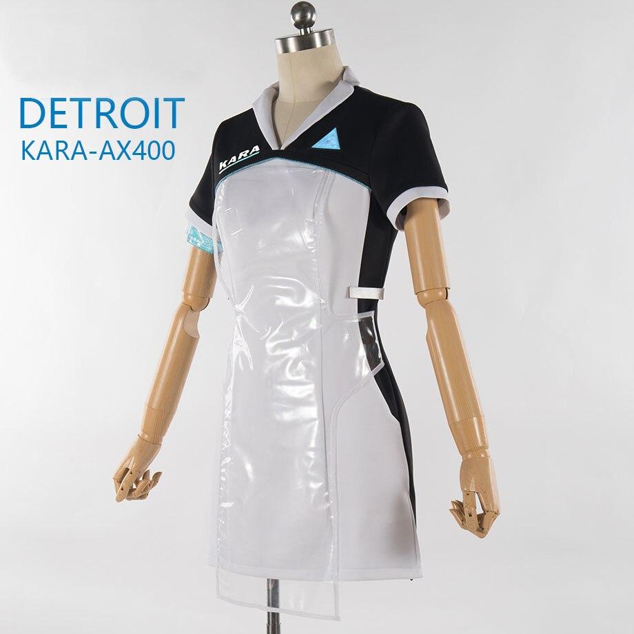 Spiel Detroit: Sich Menschliches KARA Cosplay Kostüm Code AX400 Mittel Outfit Mädchen Nette Kleid Halloween Karneval Uniformen Nach Maß