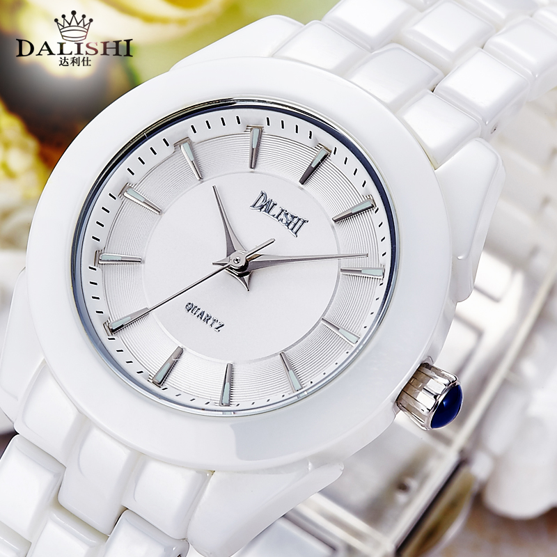 DALISHI Top Marque Femmes Montres Quartz Argent Blanc En Céramique Montre De Mode Lumineux Cadran Elegan Dames Horloge Relogio Feminino