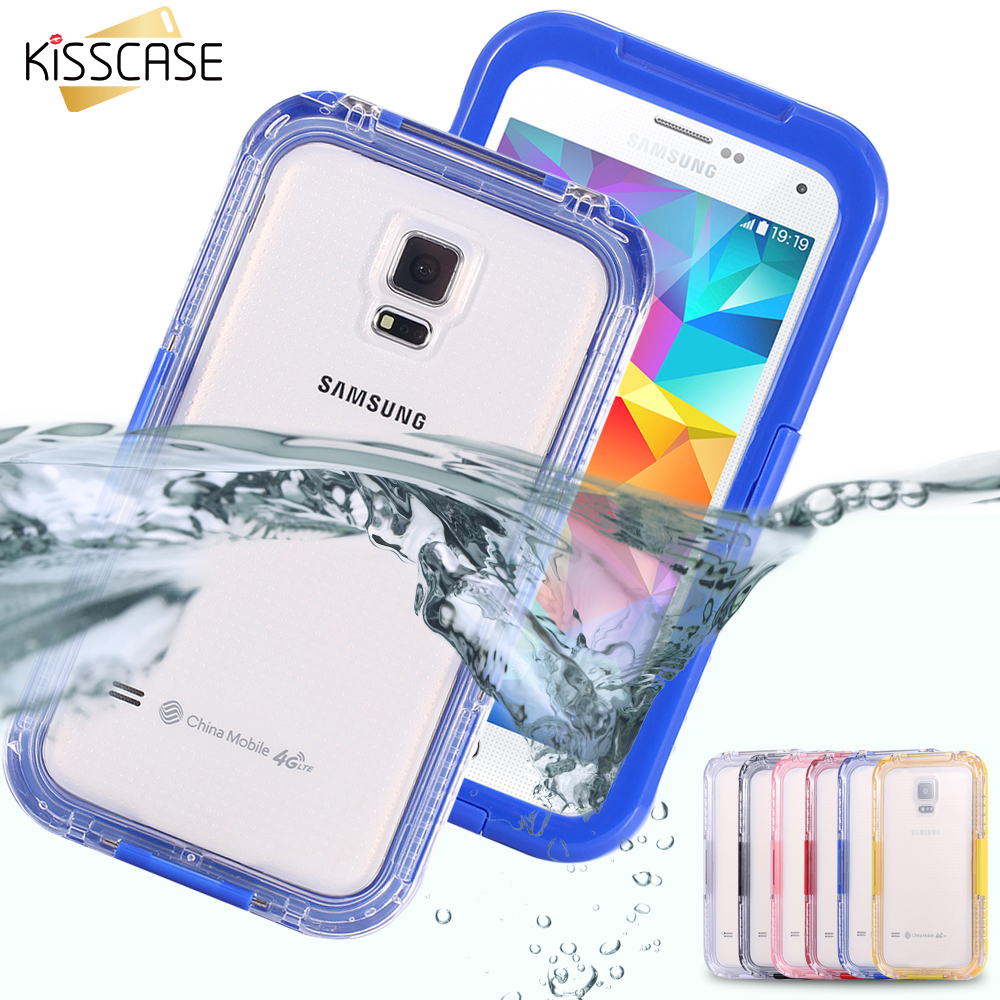 KISSCASE Clear Waterproof Case For Samsung Galaxy S5 S4 S3 Luxury Underwater Back Cove For Galaxy