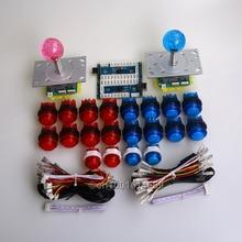 Easyget 20x Arcade DIY Bundle Kits LED Push Buttons + 2/4/8 Way LED Joysticks + USB PC Encoder For MAME Games & Raspberry Pi DIY