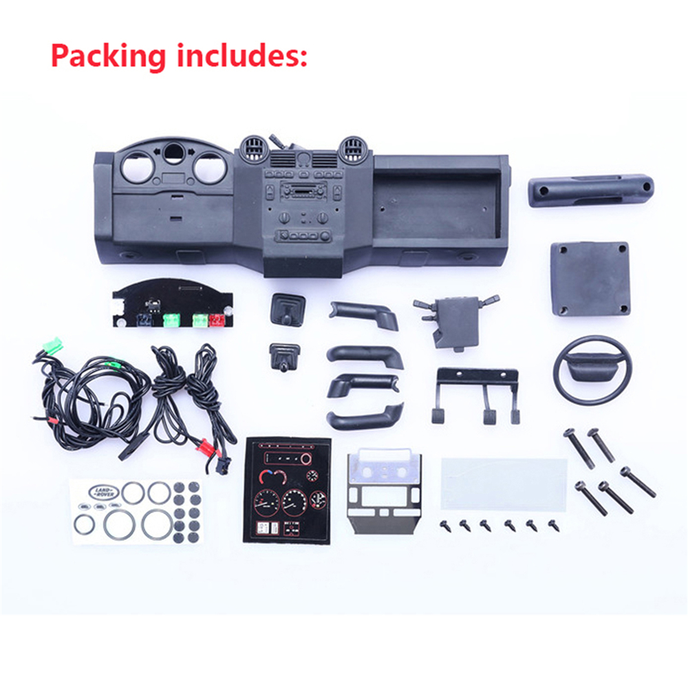 US $54 0 30% OFF|DIY Center Console Simulation Parts Kits for Traxxas TRX4  Land Rover Defender RC Car Decoration Accessories-in Replacement Parts &