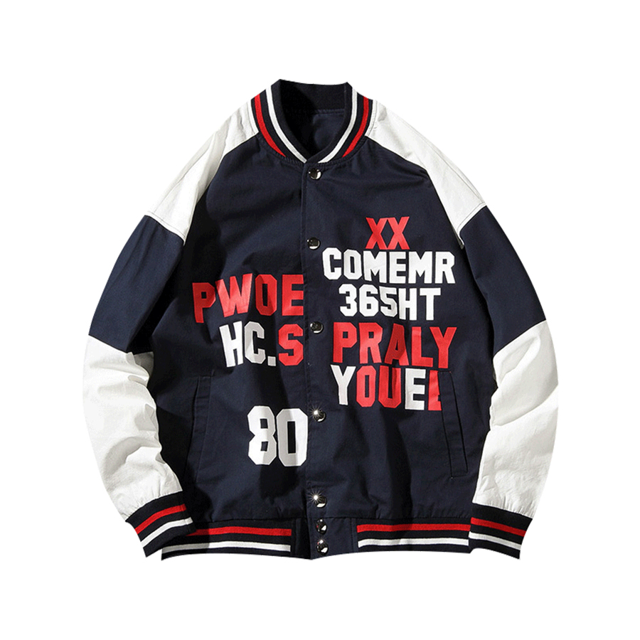 Spring Men Jacket Coat Casual Print Korean Mens Baseball Jacket Streetwear Erkek Mont College Hip Hop Coat Men Bomber 2018 50J00