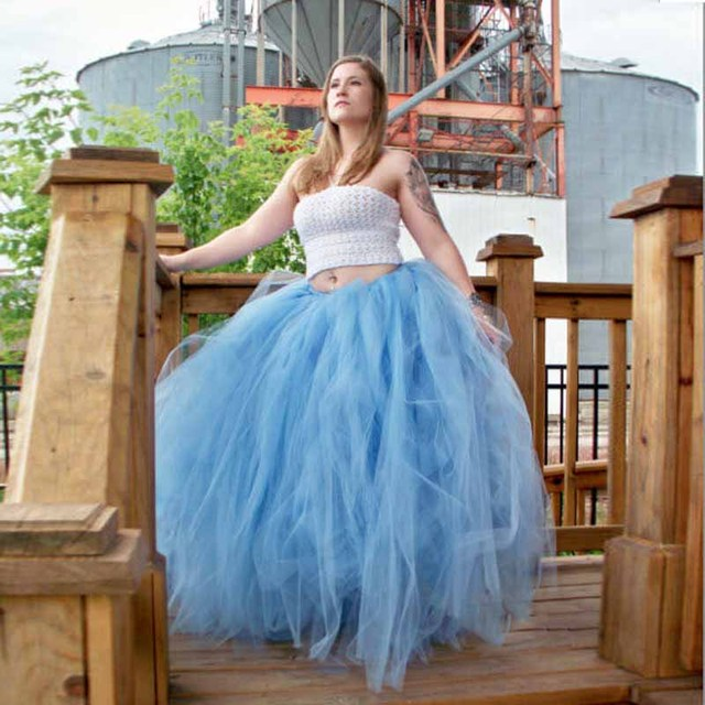 Extra Puffy Blue Tulle Skirt Multilayered Ball Gown Bridal Long Skirt for Wedding  Party Gown Engagement Photos Bachelorette bfadc6d5ae3c