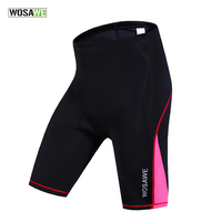 WOSAWE Summer Womens Cycling Shorts 4D Gel Padded Bicycle MTB Mountain Bike Shorts Breathable Quick Dry