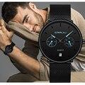 CRRJU стильные часы мужские водонепроницаемые тонкие сетчатые часы минималистичные наручные часы для мужчин кварцевые спортивные часы Relogio ...