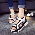 2017 Estilo Clássico Mulheres Sandálias de Verão Mulher Sapatos de Plataforma Do Dedo Do Pé Aberto chinelos de Sola Grossa Sandálias Zapatos Mujer