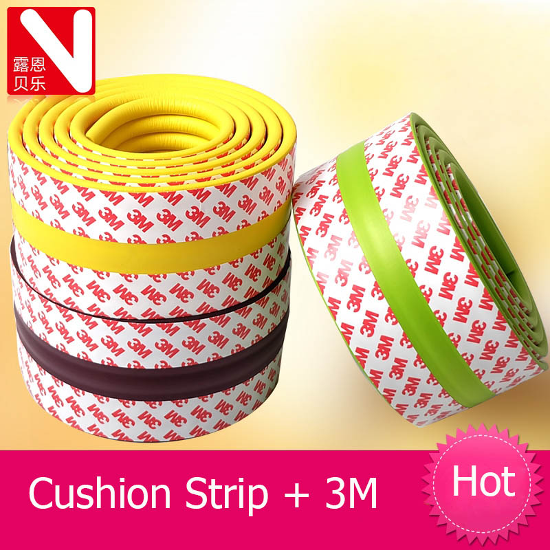 2m protection from children baby bumper strip thick anti-collision edging Cushion strip nursery corner protectors Child Safety baby safe soft cuttable pvc bumper anti collision strip light grey 200cm