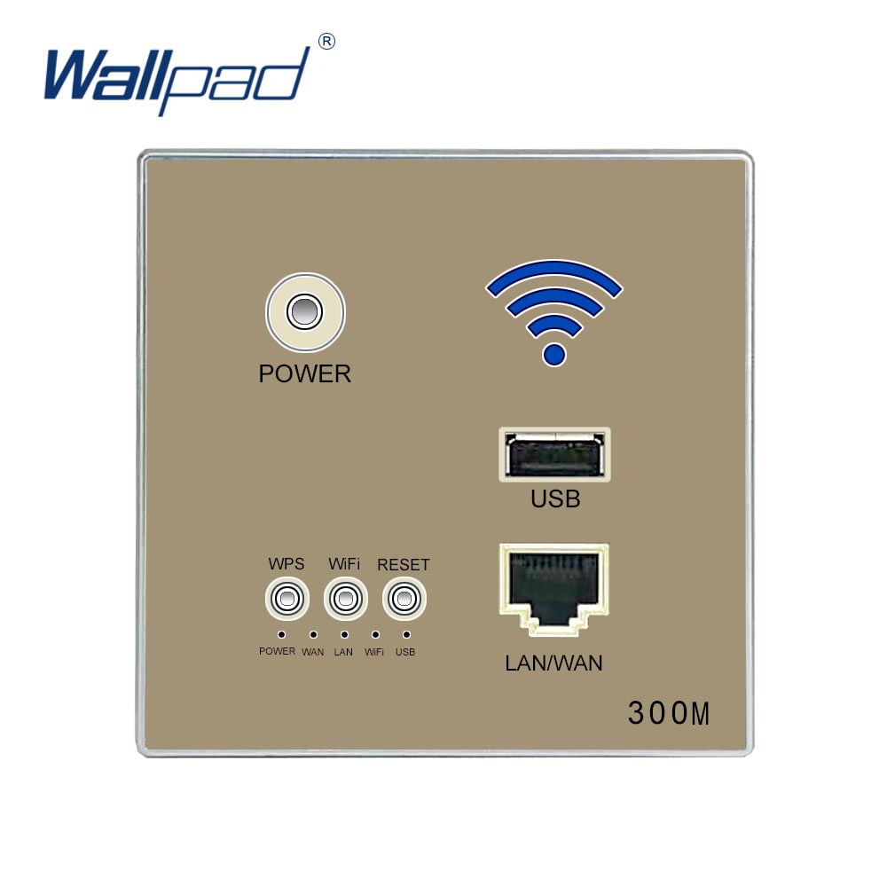 300M Wall Embedded Wireless AP Router USB Socket Wall Charger WIFI Usb Wall Socket Panel WiFi Socket Gold беспроводной маршрутизатор phicomm fir303c 300m ap