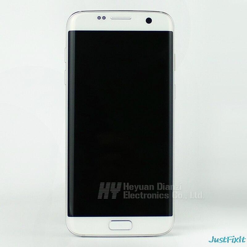 Lcd Touch Screen Digitizer Frame Voor Samsung Galaxy S7 Rand G935F G935FD Opladen Dock Kabel Home Button Met Back case - 2