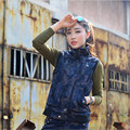 Streetwear Camouflage Women Vest Autumn Spring Casual Fashion Female Outwear Coat Sleeveless Vest For Women M1434
