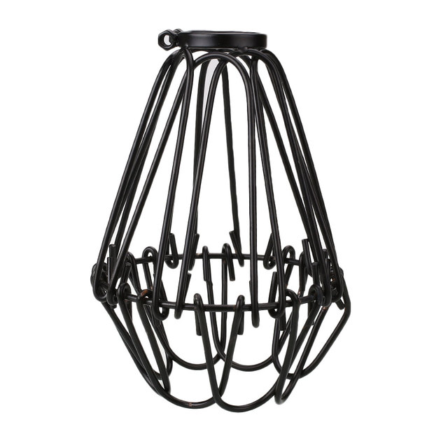 Durable Black steel wire cage lamp shade Cover For Home Chandelier ...