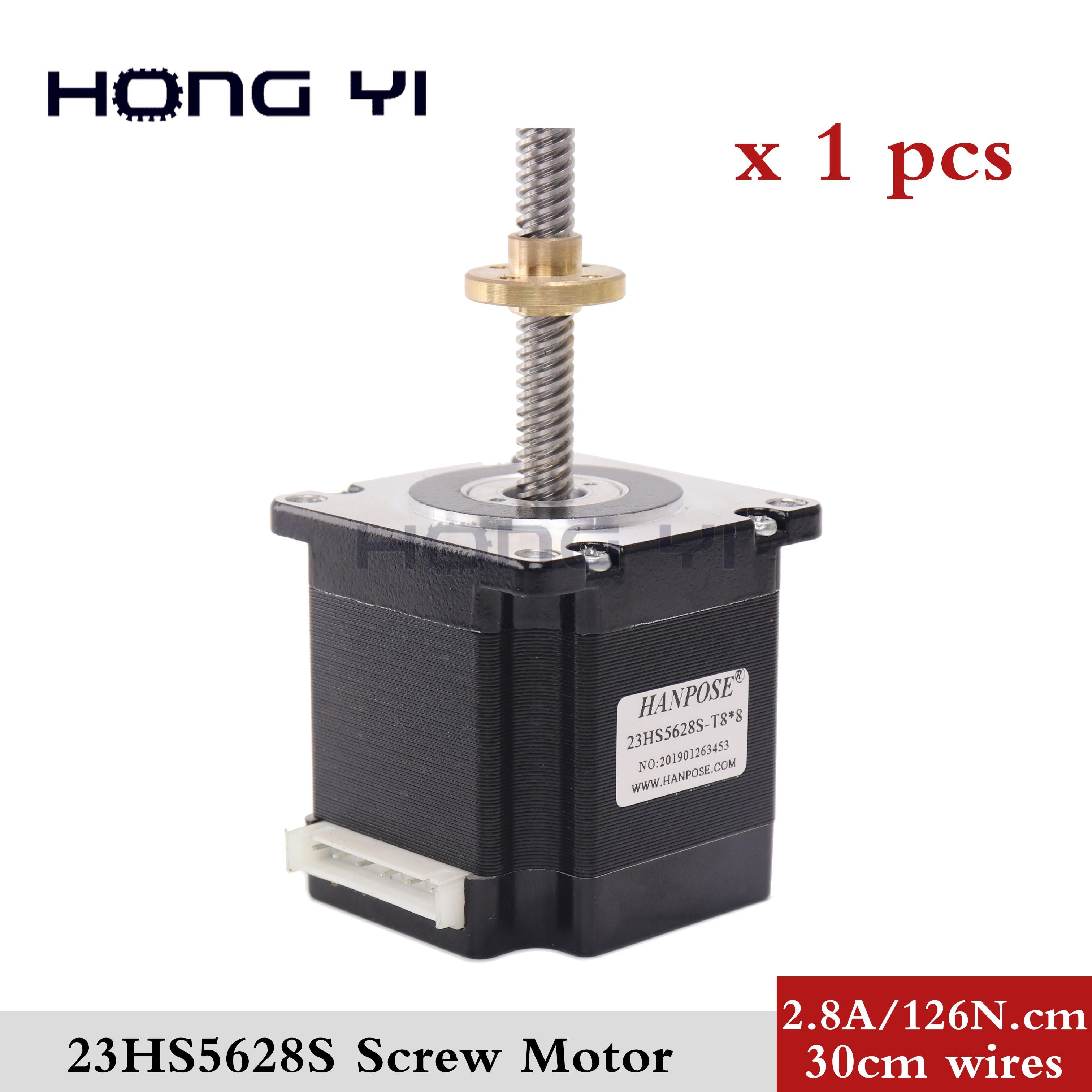 Livraison gratuite Nema 23 vis moteur pas à pas moteur 165 Oz-en 56mm 2.8A 23HS5628 4-plomb 5 avec t8x8 vis plomb CNC Laser moudre la mousse