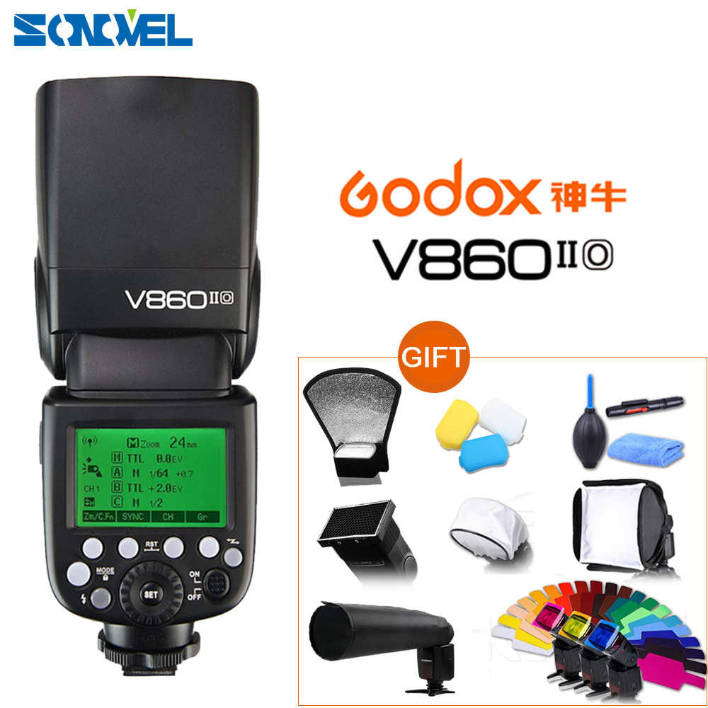 Godox Ving V860II-O TTL HSS 1/8000 Li-ion Battery TTL Speedlite Flash For Panasonic DMC-G7 G9 G85 FZ300 GH2 GH3 GH4 GH5 GX8 <font><b>GX7</b></font> image
