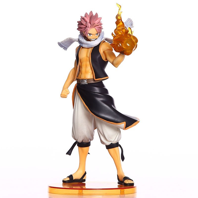 23cm Anime Fairy Tail Natsu PVC Figure Natsu Dragneel 1/7 Scale Painted Action Figure Collectible Model Toys Brinquedos With Box 6pcs set anime cartoon character fairy tail natsu gray lucy erza figure action doll toys great gift