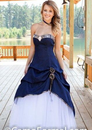 Vestidos de novia blanco con azul marino