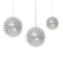Dia. 45cm 42PCS led tube 13W LED Pendant Light Hand Made Stainless Steel Creative Circle Modern spark sphere 12V bulb
