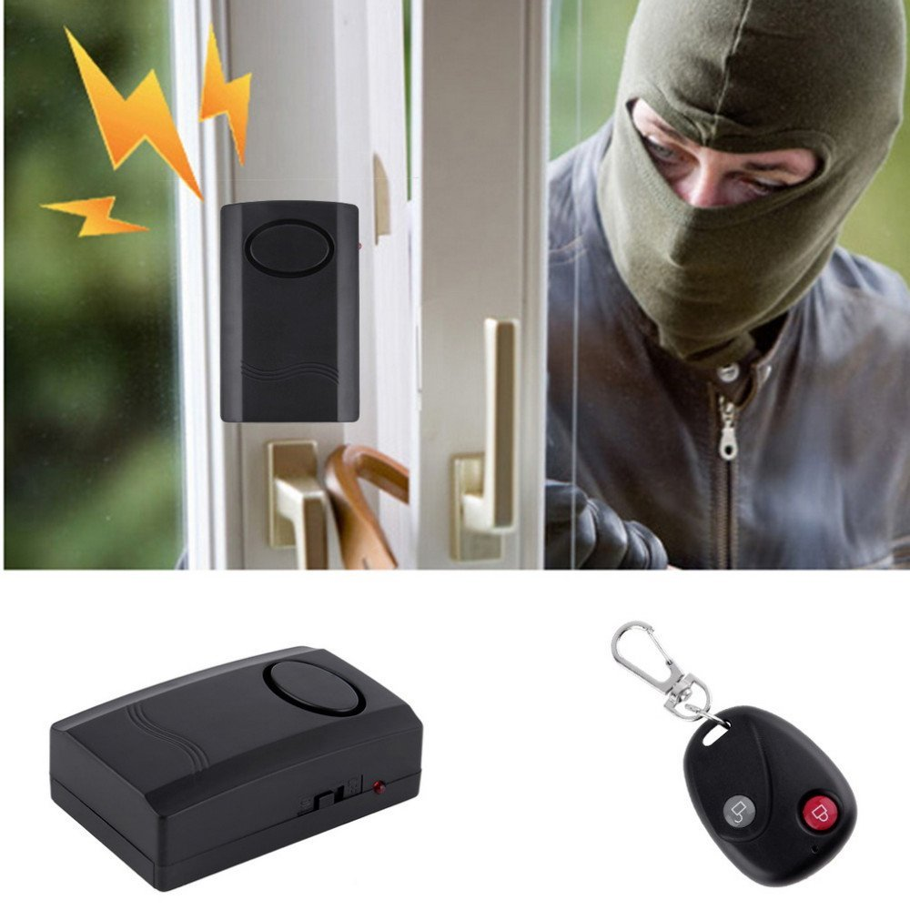 Wireless Vibration Alarm Home Security Motorcycle Car Door Window Anti-Theft Burglar Detector Sensor 120dB Remote Control wireless remote control vibration security alarm independly door window detector black